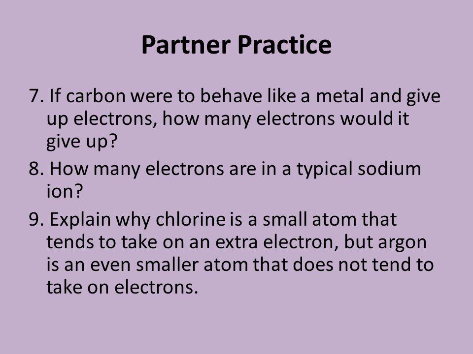 Partner Practice 7.