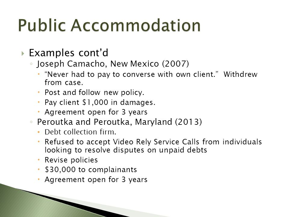 " Examples cont'd ◦ Joseph Camacho, New Mexico (2007)  ""Never had to pay to converse with own client."" Withdrew from case.  Post and follow new poli"