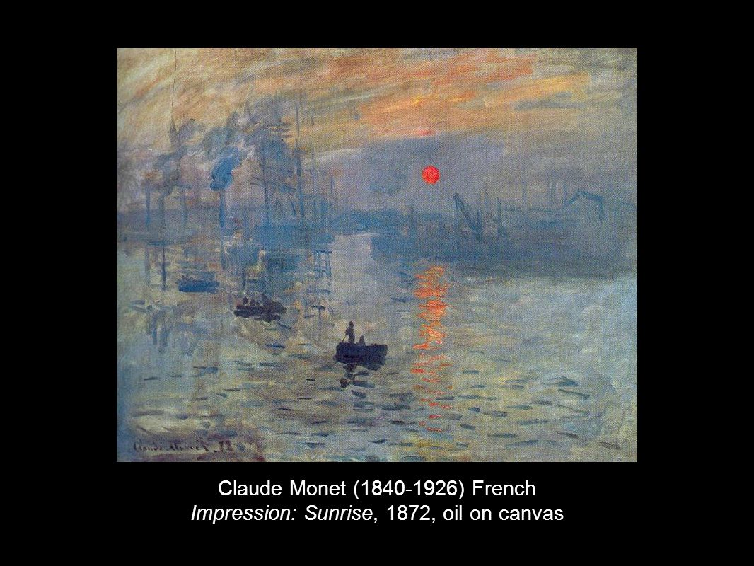 Claude Monet (1840-1926) French Impression: Sunrise, 1872, oil on canvas