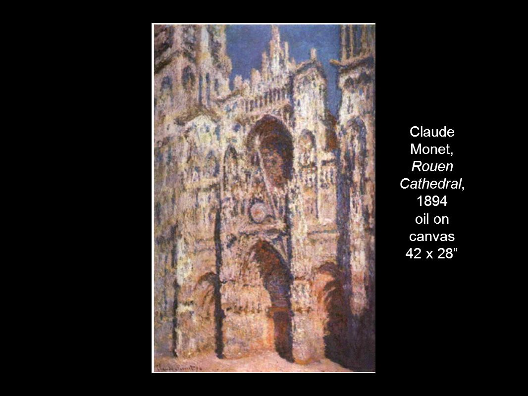 Claude Monet, Rouen Cathedral, 1894 oil on canvas 42 x 28""