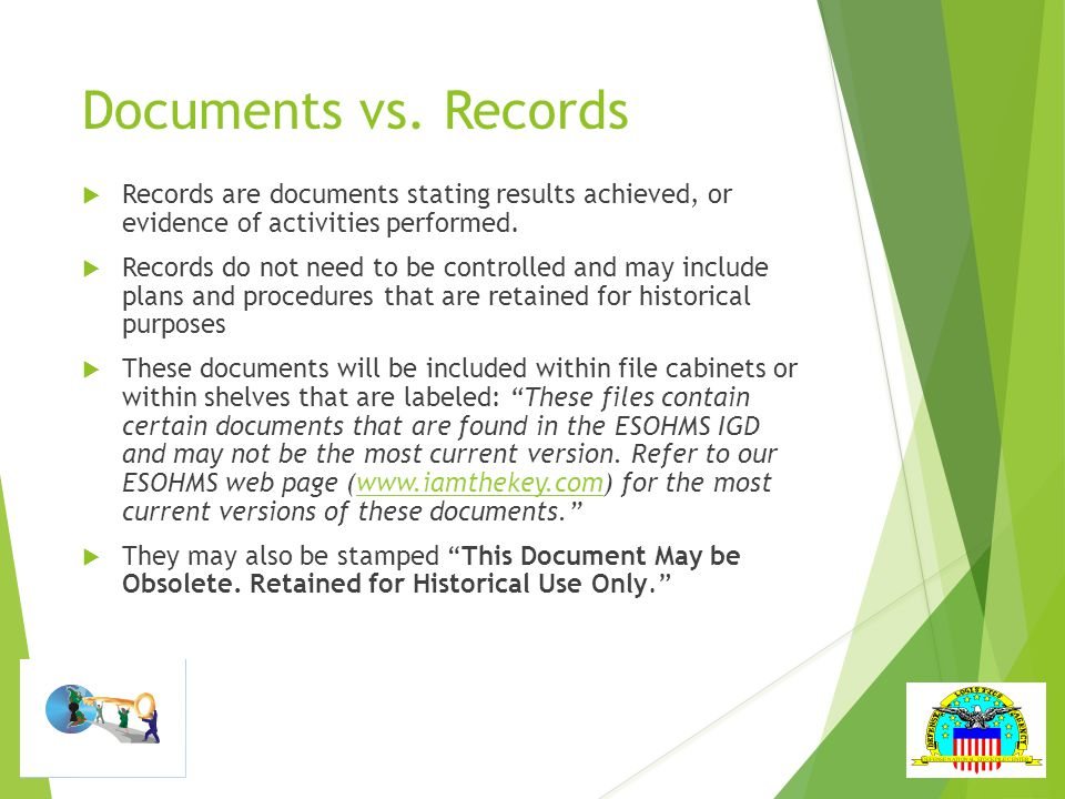 Documents vs.