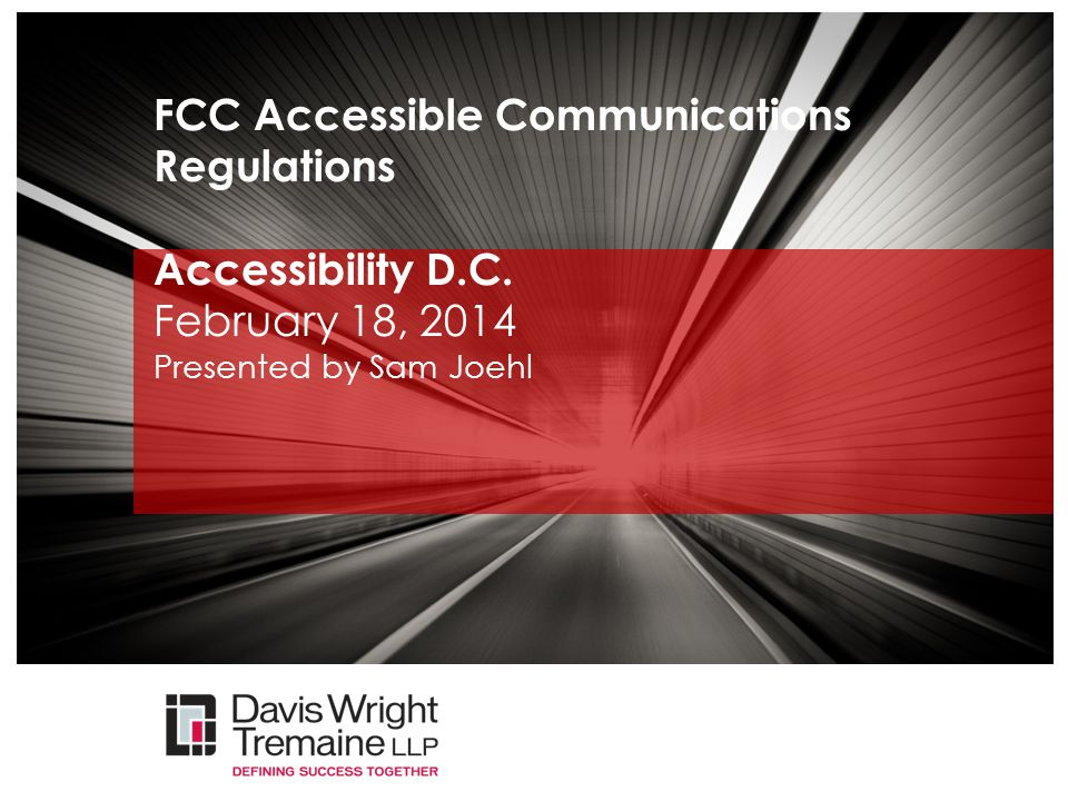 Design Checklist - Timing  As part of the FCC accessibility requirements, products and services must ensure that accessibility is considered and evaluated as early as possible in the product development life cycle.
