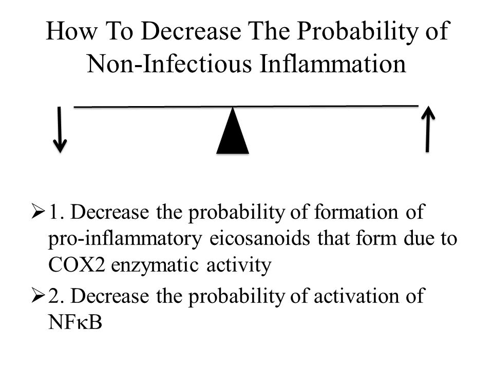 How To Decrease The Probability of Non-Infectious Inflammation  1.