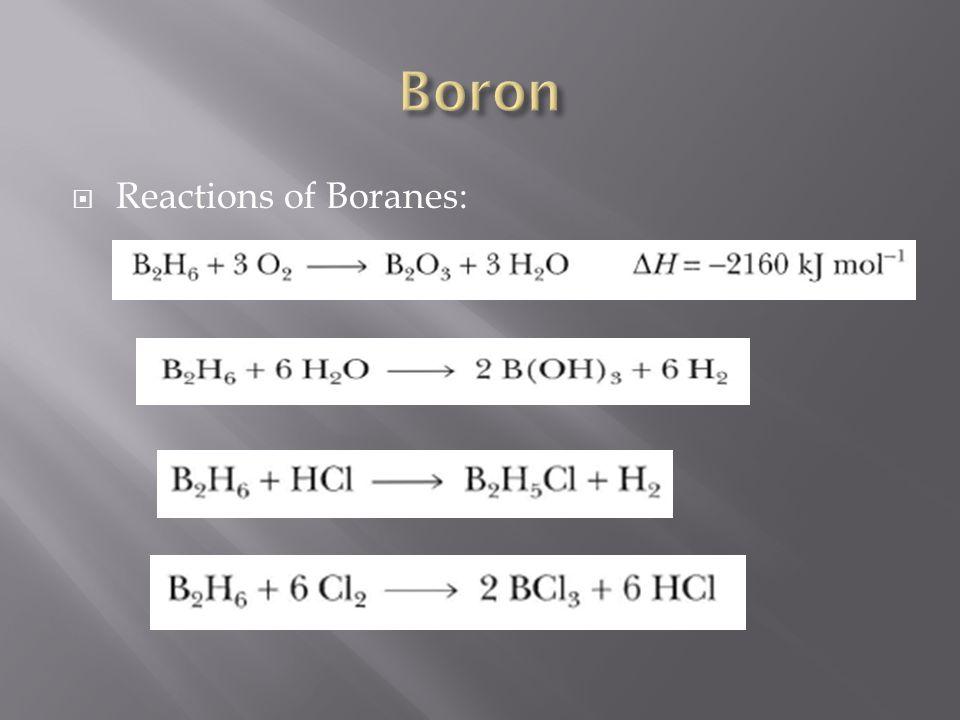  Reactions of Boranes: