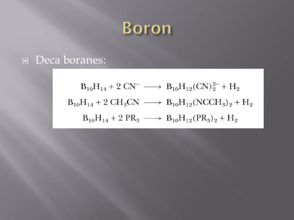  Deca boranes: