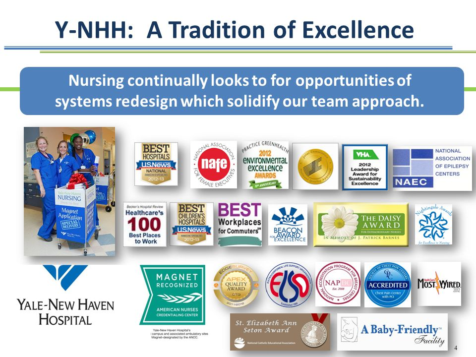 4 Y-NHH: A Tradition of Excellence Nursing continually looks to for opportunities of systems redesign which solidify our team approach.