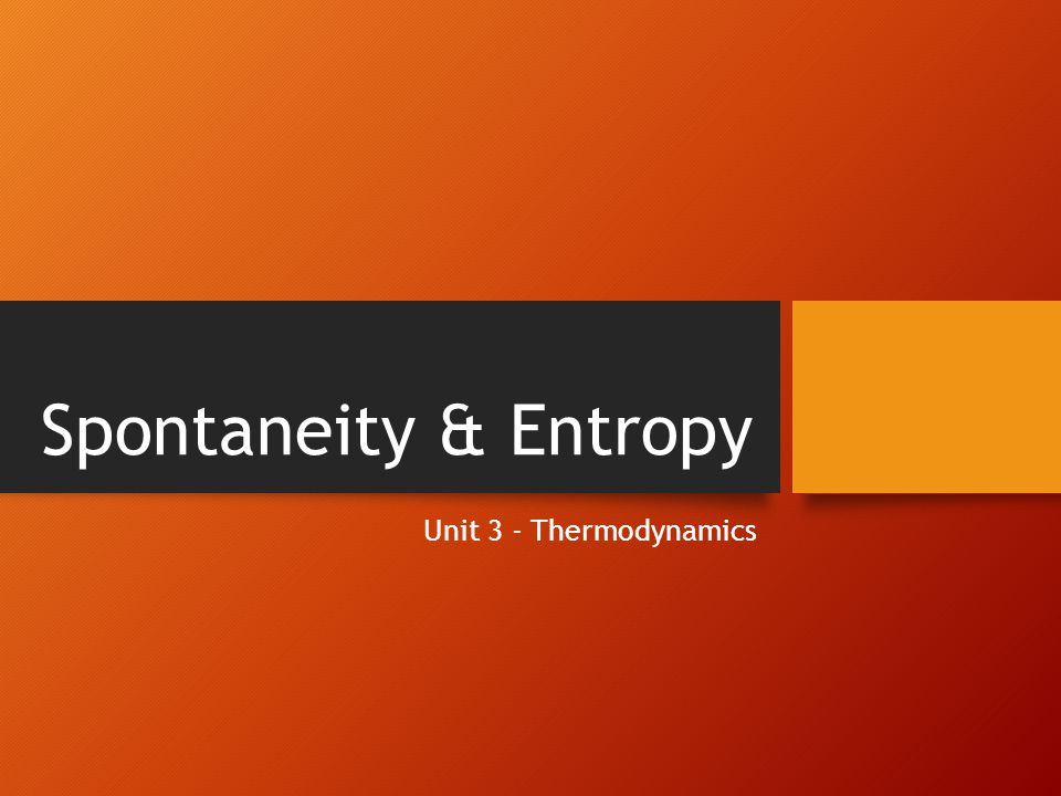 Entropy Example Place a gas the container flask.That flask is connected to an empty flask.