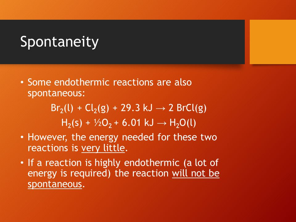 Predicting Entropy Changes The following suggest an increase in entropy: i.