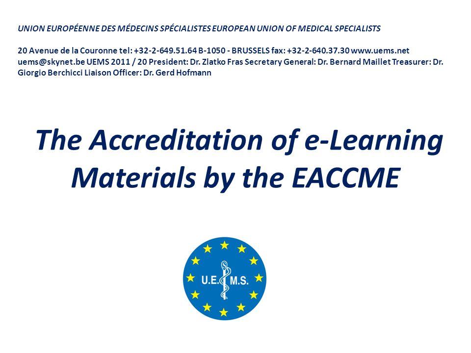 UNION EUROPÉENNE DES MÉDECINS SPÉCIALISTES EUROPEAN UNION OF MEDICAL SPECIALISTS 20 Avenue de la Couronne tel: +32-2-649.51.64 B-1050 - BRUSSELS fax: +32-2-640.37.30 www.uems.net uems@skynet.be UEMS 2011 / 20 President: Dr.