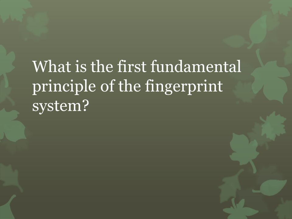 Which fingerprint pattern has one or more ridges that enter and exit on the same side of the print?