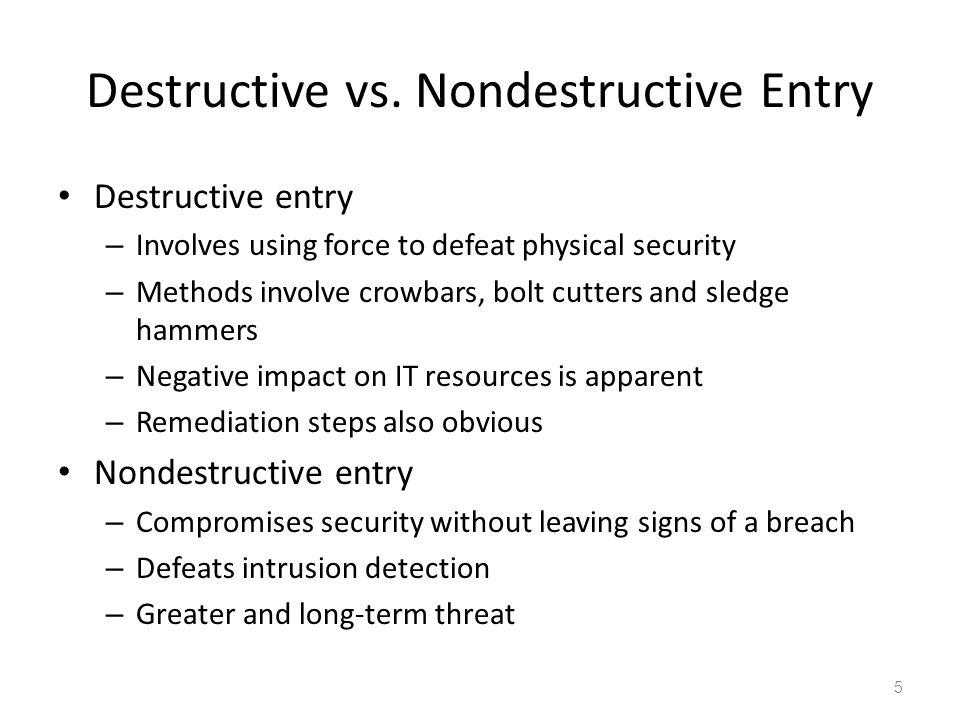 Destructive vs.