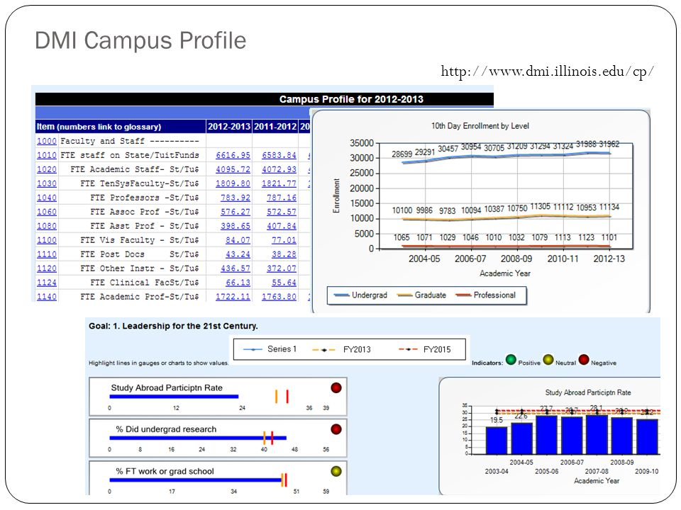 DMI Campus Profile http://www.dmi.illinois.edu/cp/