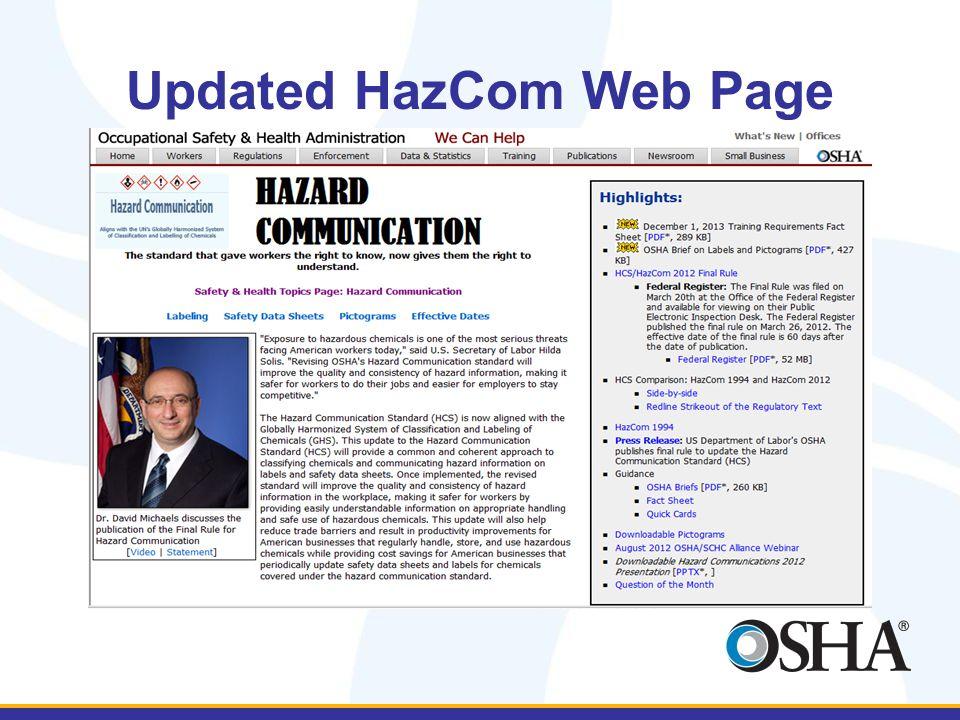 Updated HazCom Web Page