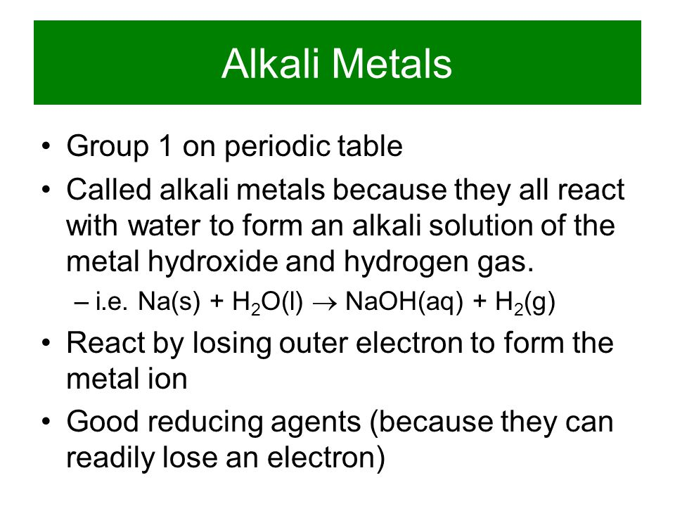PERIODIC GROUPS alkali metals alkaline earth metals transition metals halogens noble gases lanthanides actinides