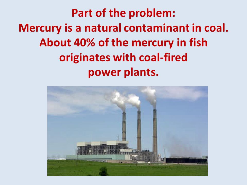Part of the problem: Mercury is a natural contaminant in coal.