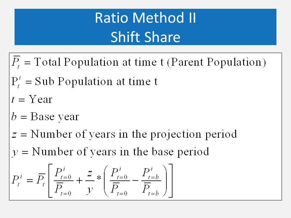 Ratio Method II Shift Share