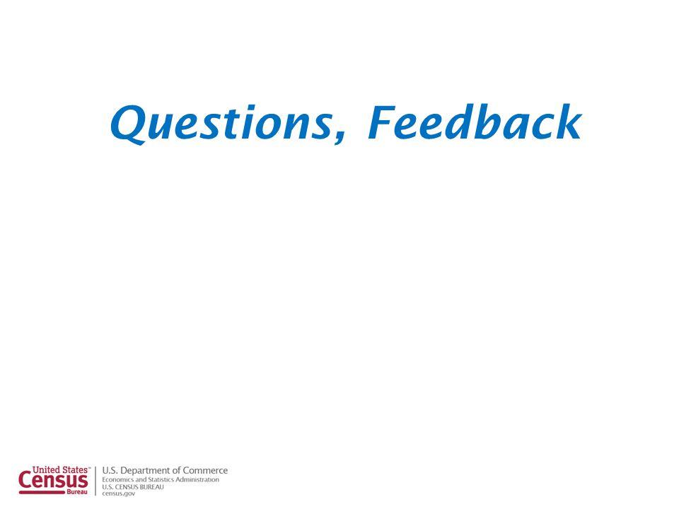 Questions, Feedback