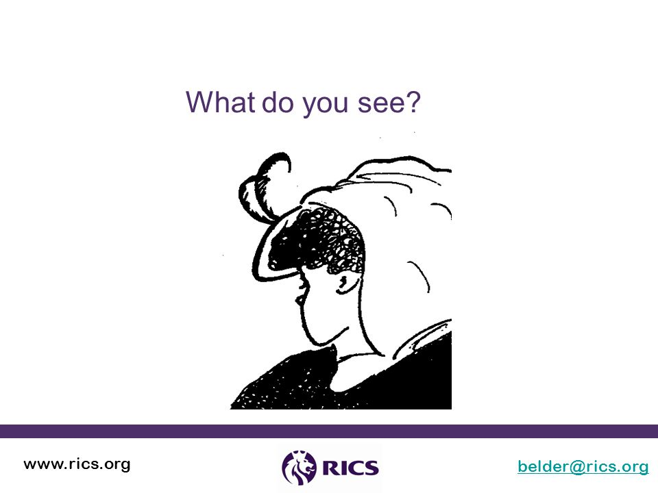 belder@rics.org www.rics.org What do you see