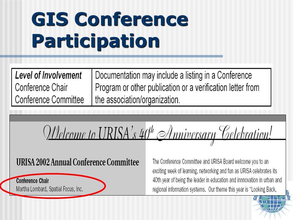 GIS Conference Participation