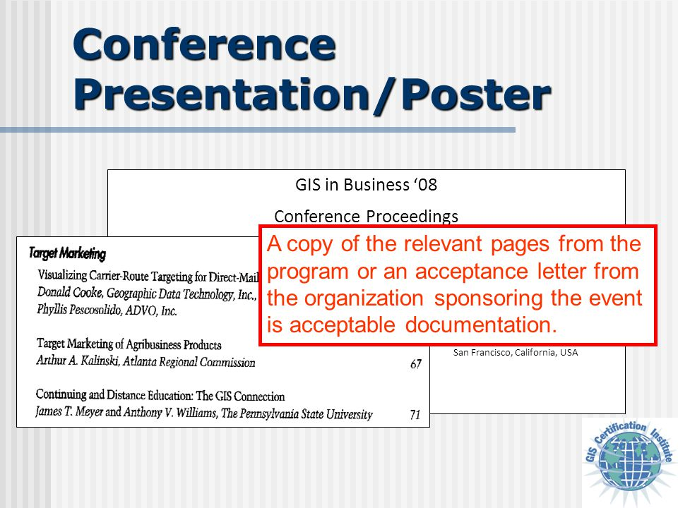 GIS in Business '08 Conference Proceedings July 9-12, 2008 San Francisco Hilton and Towers San Francisco, California, USA Conference Presentation/Post