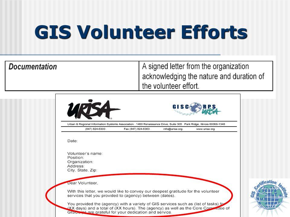 GIS Volunteer Efforts