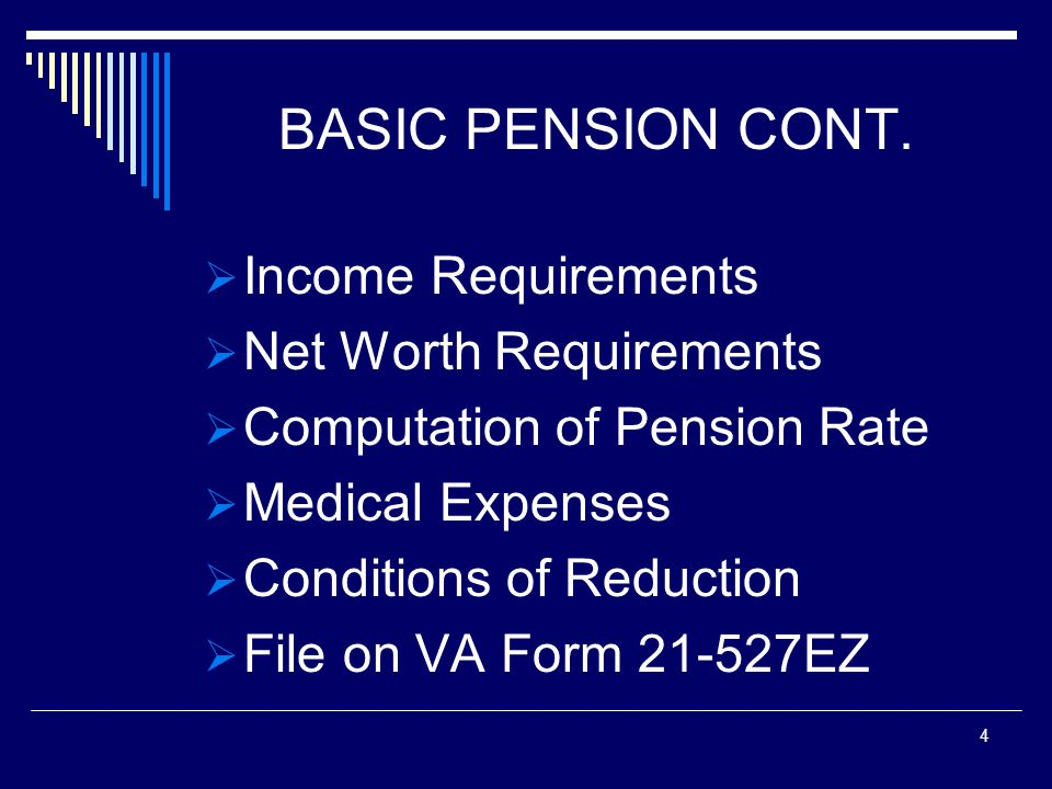 BASIC PENSION CONT.