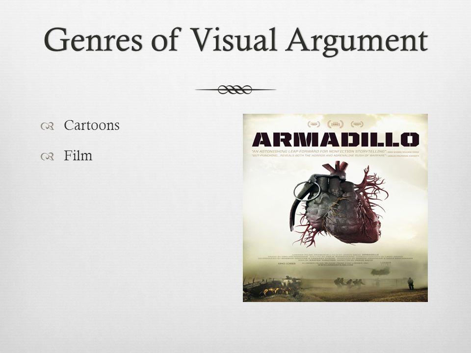 Genres of Visual ArgumentGenres of Visual Argument  Cartoons  Film