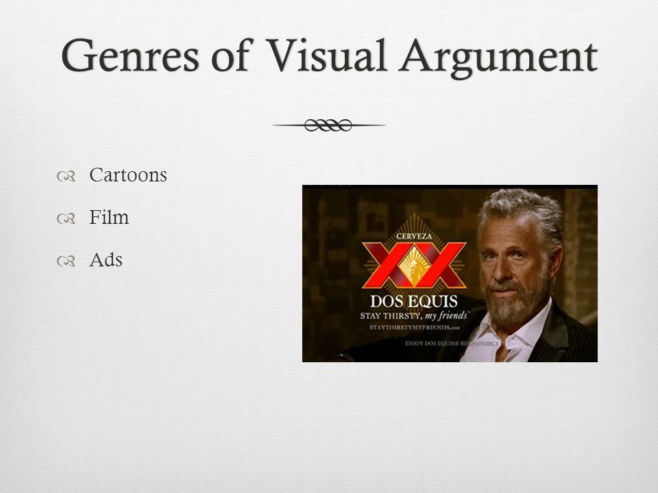 Genres of Visual ArgumentGenres of Visual Argument  Cartoons  Film  Ads
