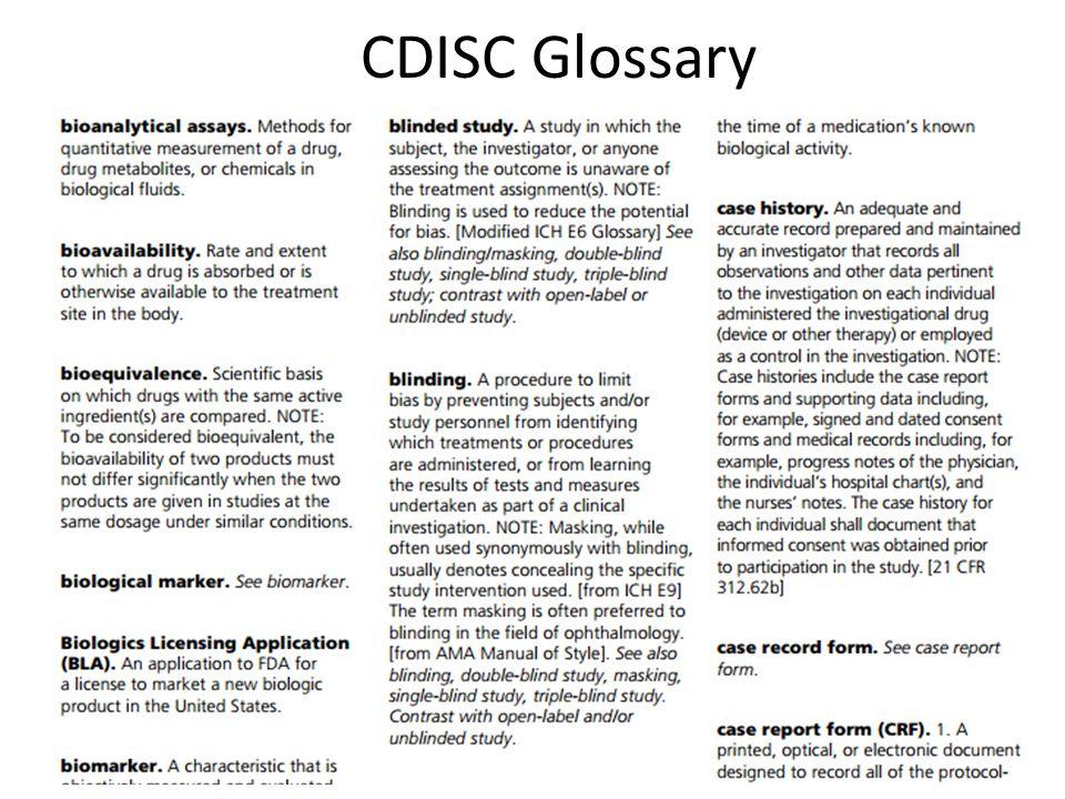 CDISC Glossary