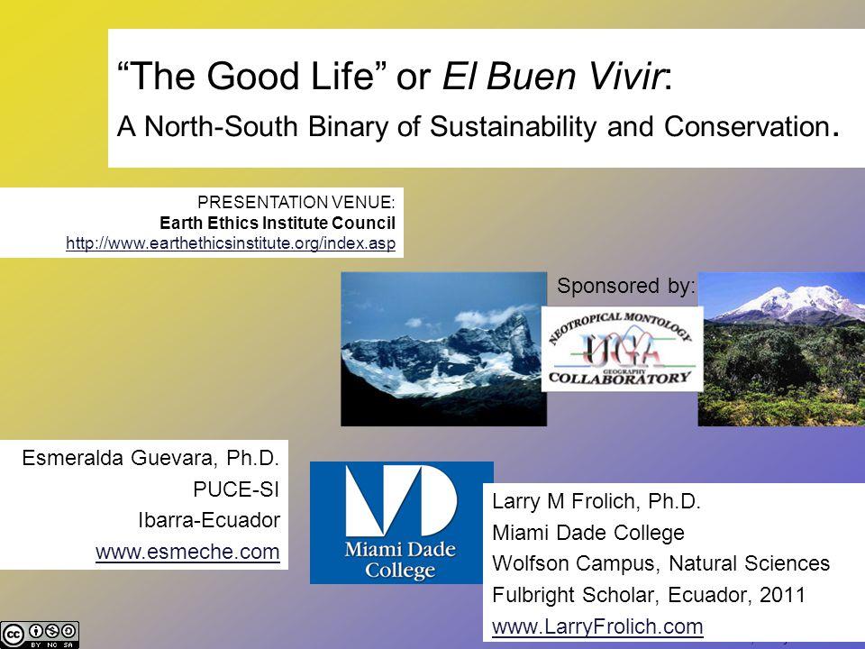Esmeralda Guevara, Larry M Frolich El Buen Vivir The Good Life 0 1 binaries