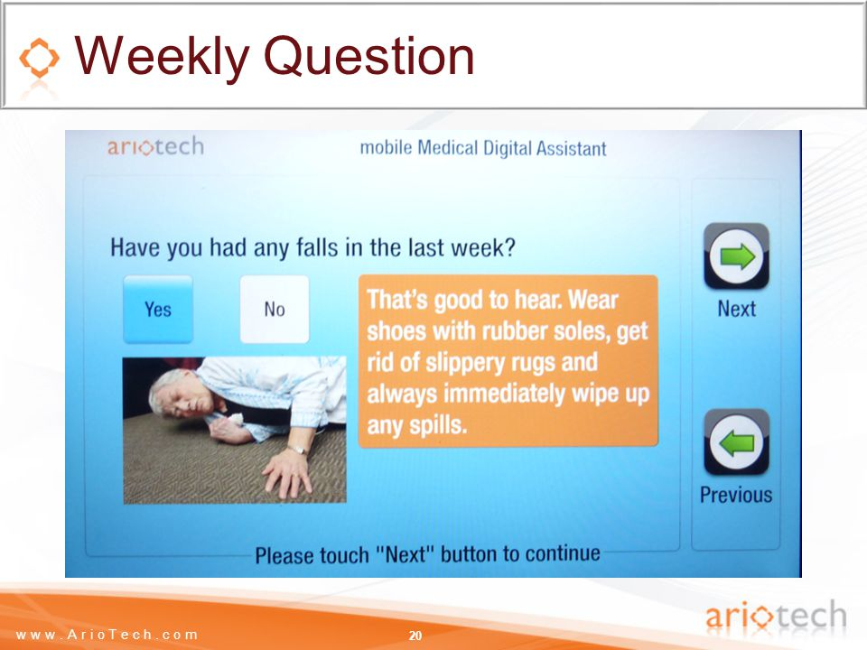 www.ArioTech.com Weekly Question 20