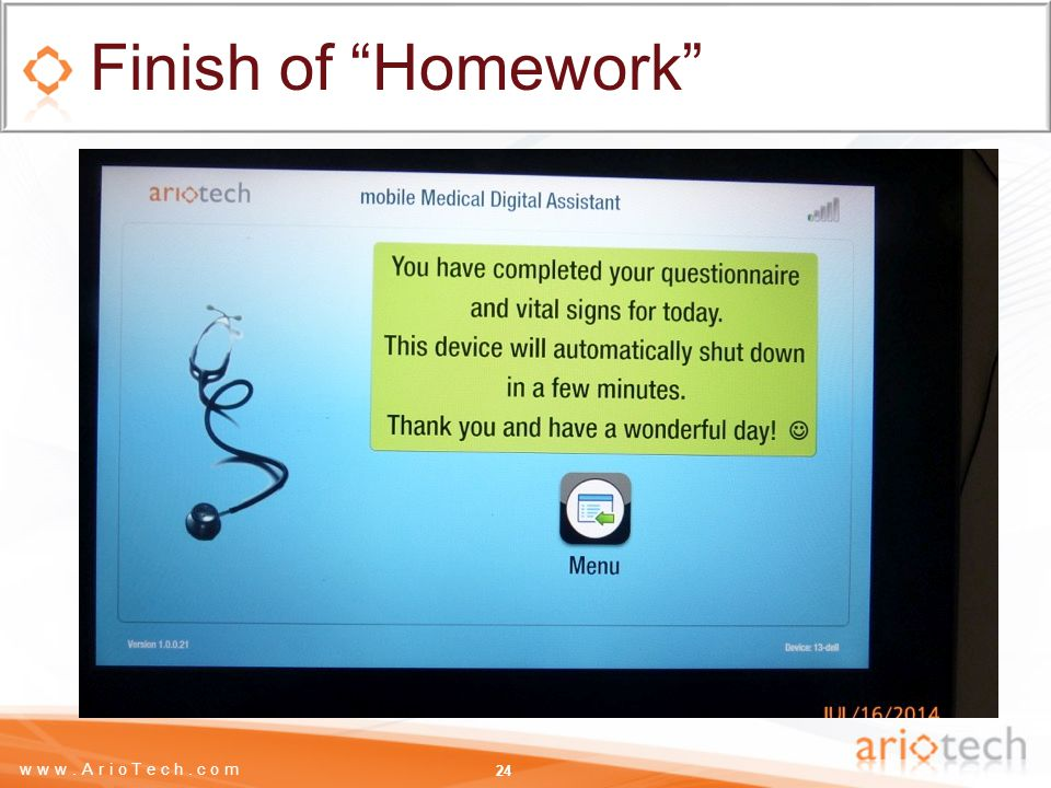 www.ArioTech.com Finish of Homework 24