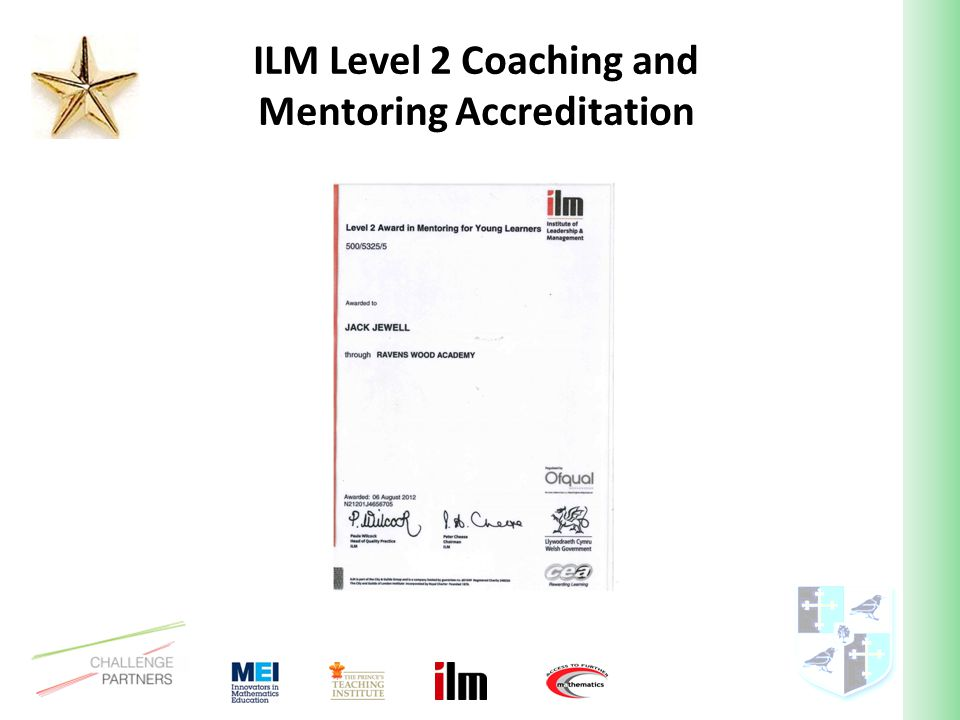 ILM Level 2 Coaching and Mentoring Accreditation