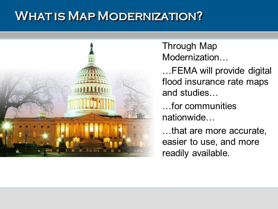 Seclusion Mapping Process Important items of note: Process is not applicable to all non-accredited levee systems This effort results in: –Updated set of effective FIRMs for the community.