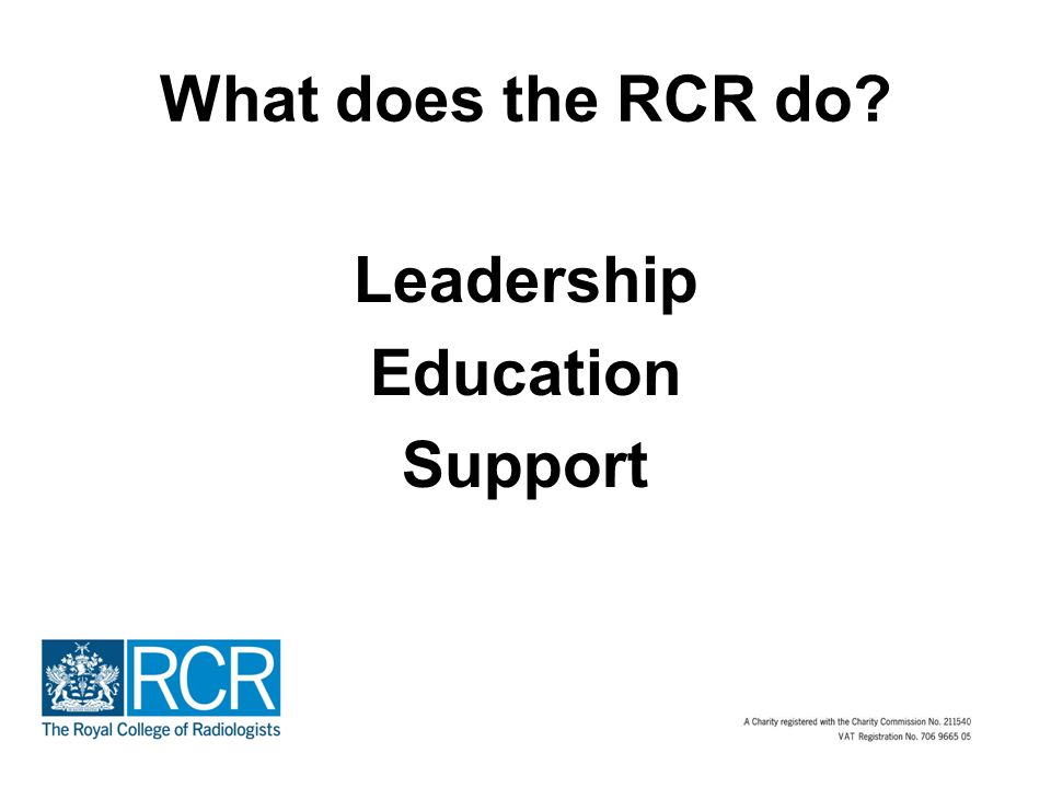 What does the RCR do Leadership Education Support