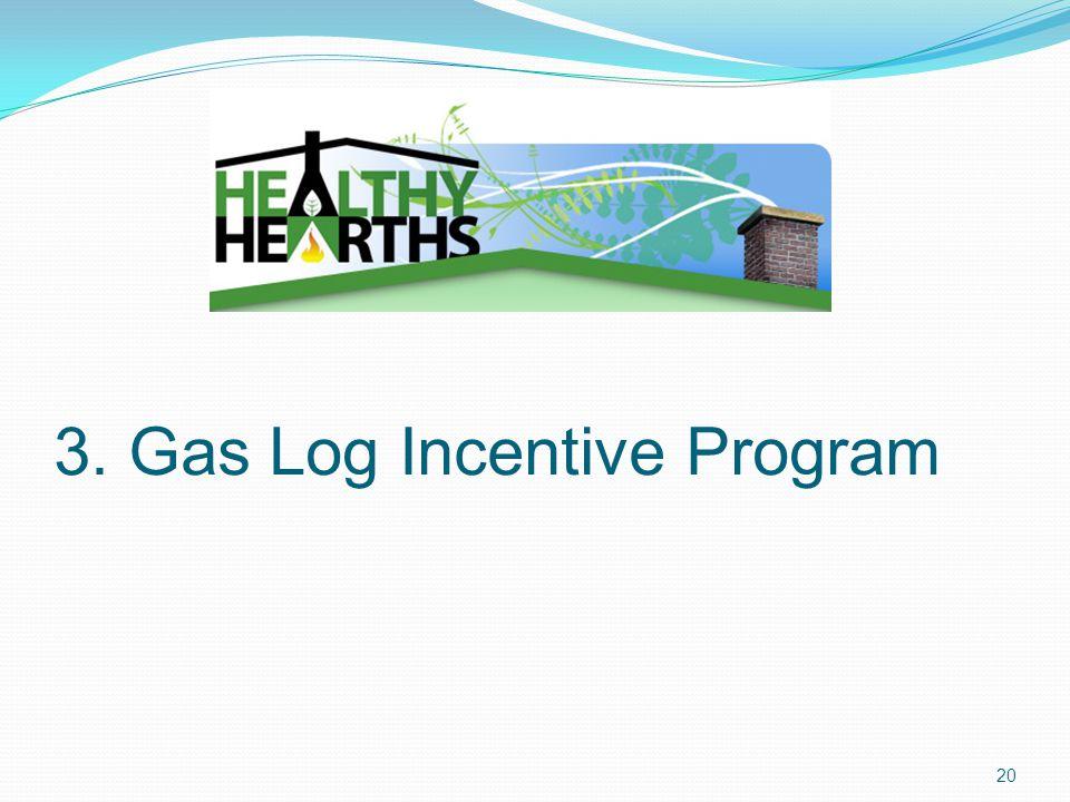3. Gas Log Incentive Program 20