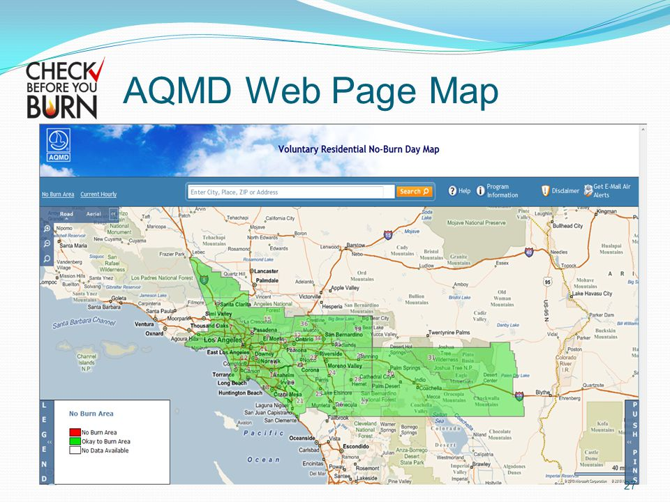 AQMD Web Page Map 27