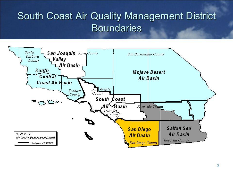 South Coast Air Quality Management District Boundaries 3