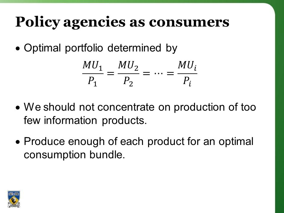 Policy agencies as consumers