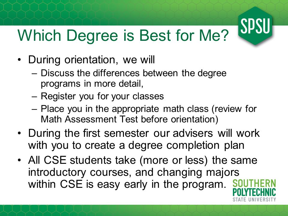 Which Degree is Best for Me.