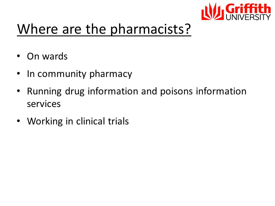 Where are the pharmacists.