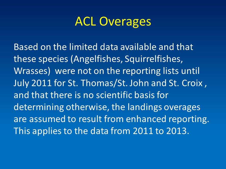 Species Selection Criteria Concept of Thresholds St.