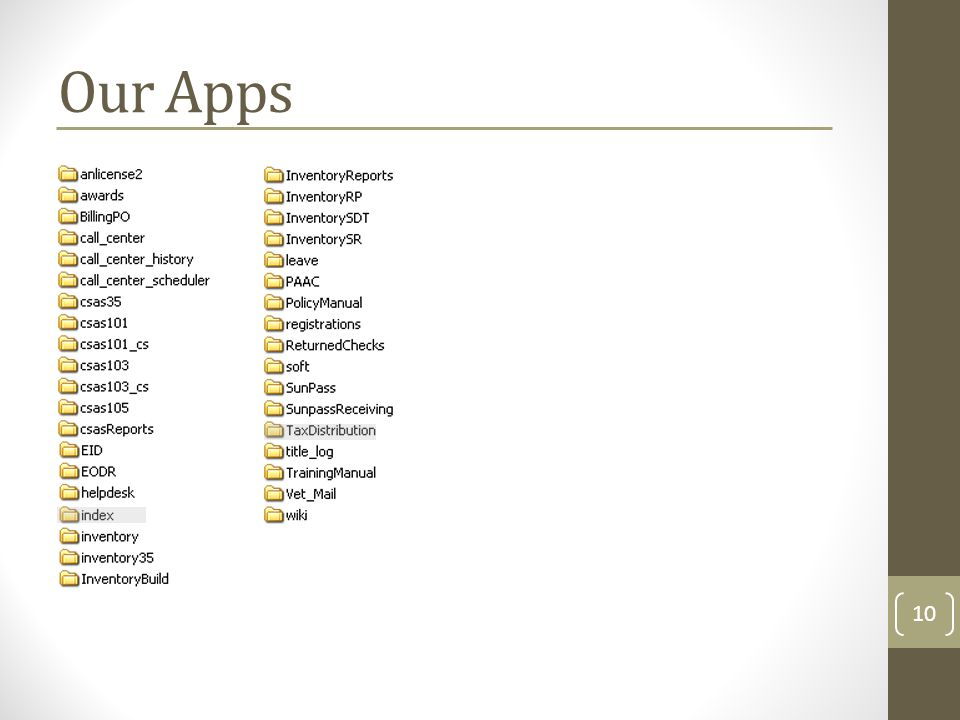 Our Apps 10