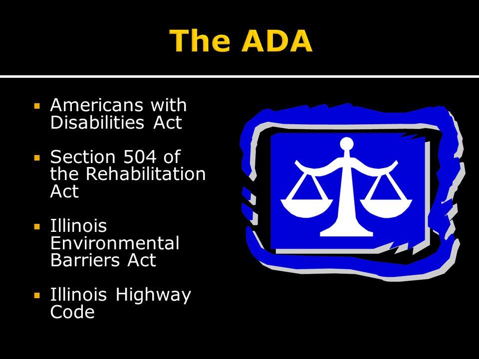  Illinois Department of Transportation ADA Coordinator  Juliet Shoultz  Juliet.Shoultz@illinois.gov  (217) 785-2148  FHWA Illinois Division  Traci Baker, Civil Rights Specialist  traci.baker@dot.gov  (217) 492-4732