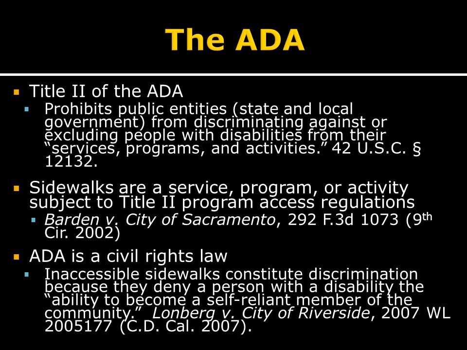  Local Level  ADA Coordinator  Human Rights Commission  State Level  Illinois Attorney General  Illinois Department of Human Rights  Federal Level  Designated federal agency ▪ DOJ, DOT, DOE, etc.