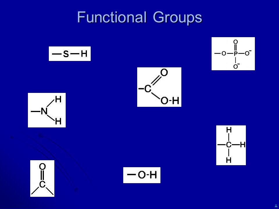 . Functional Groups