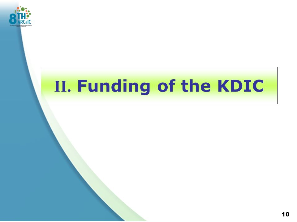 II. Funding of the KDIC 10