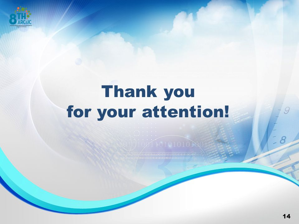 Thank you for your attention! 14