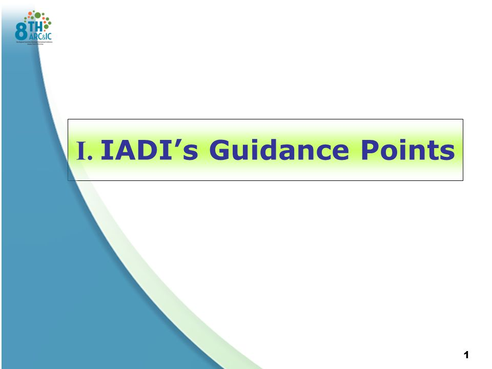 I. IADI's Guidance Points 1