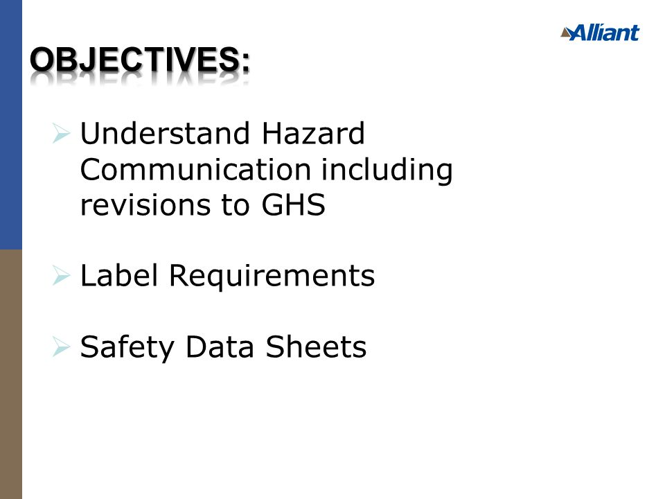  Employers should review an actual Safety Data Sheet while going through the following sections:  Use handouts of Safety Data Sheets Or  http://hillbrothers.com/pdf/downloads/m sds/chlorine.pdf http://hillbrothers.com/pdf/downloads/m sds/chlorine.pdf